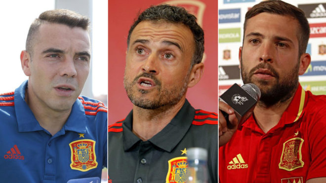 Iago Aspas, Luis Enrique and Jordi Alba