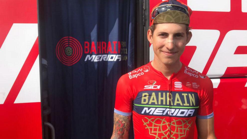 Iván García Cortina posando para MARCA en la Vuelta.