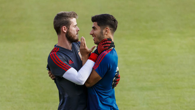 David de Gea and Marco Asensio