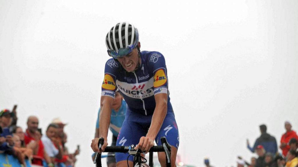 Enric Mas en una etapa de La Vuelta.