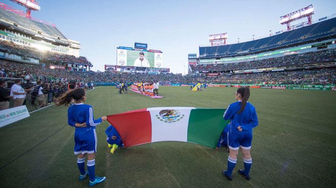 Postal del Nissan Stadium previo a un partido del Tricolor.