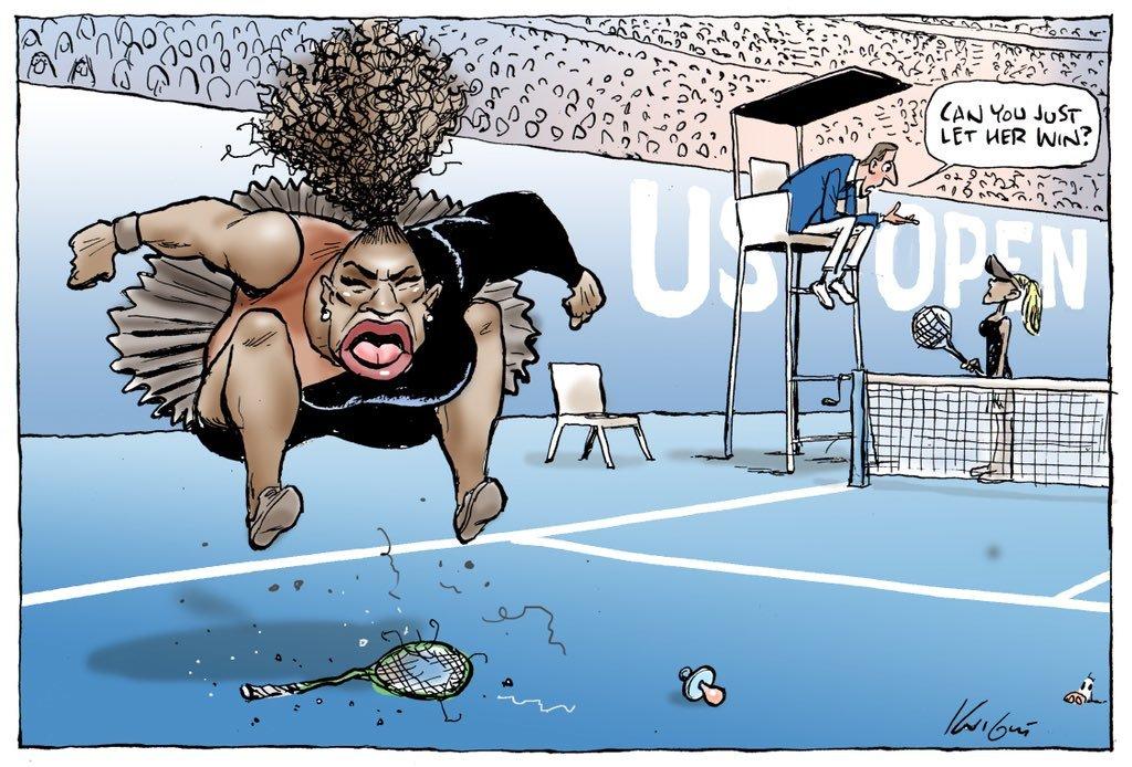 Polémica caricatura de Mark Knight de Serena Williams