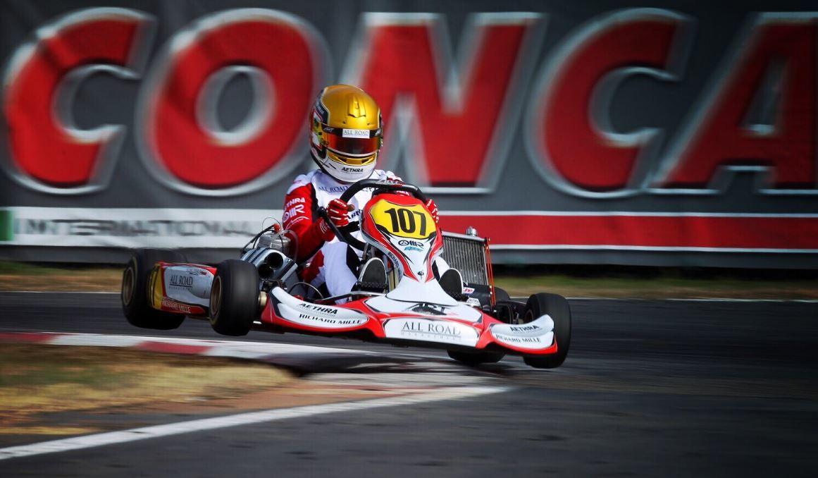 Su modelo fue Bianchi, con el que comenzó con los karts.