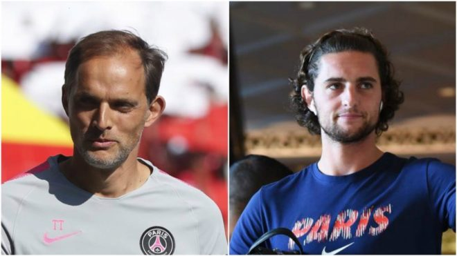 Thomas Tuchel and Adrien Rabiot