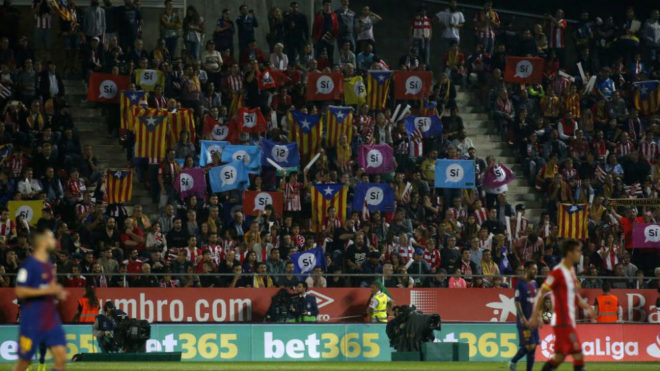 El Girona-Barça, jugado en Montilivi la temporada pasada.