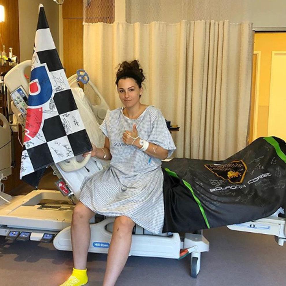 Sheena Monk, este lunes en su habitación del hospital