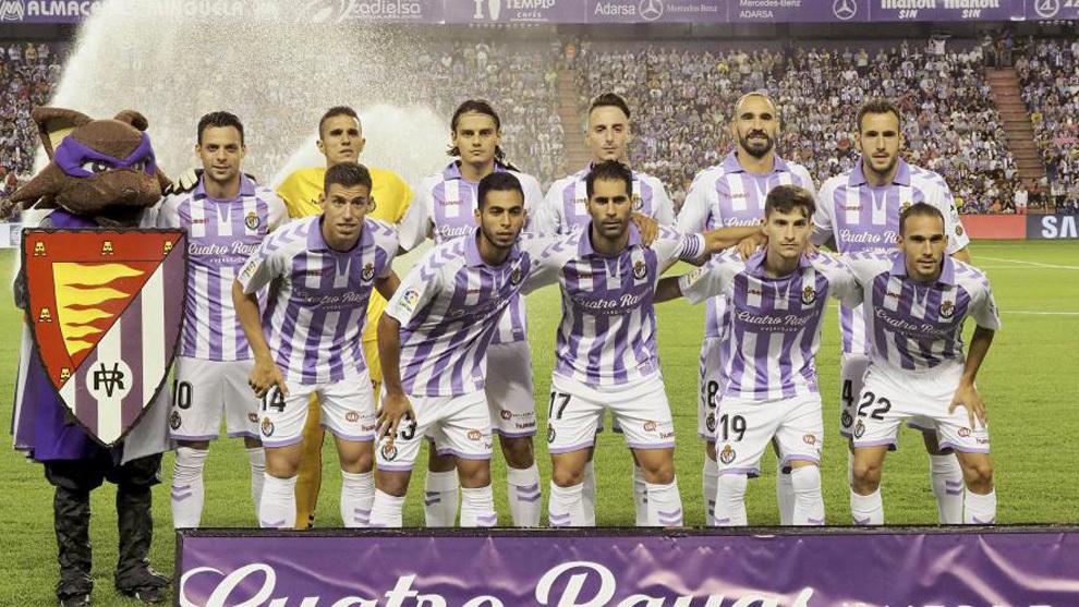 El once del Valladolid contra el Barça