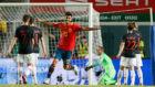 Marco Asensio celebra el 3-0 ante Croacia