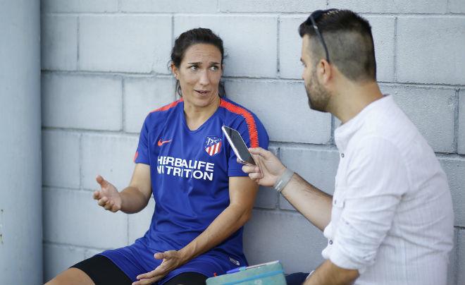 Silvia Meseguer durante una entrevista con MARCA.