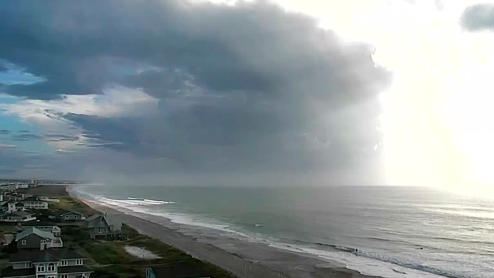 Nubes sobre Wrightsville Beach, Carolina del Norte.