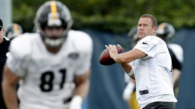 Big Ben y los Steelers se preparan para los Chiefs,