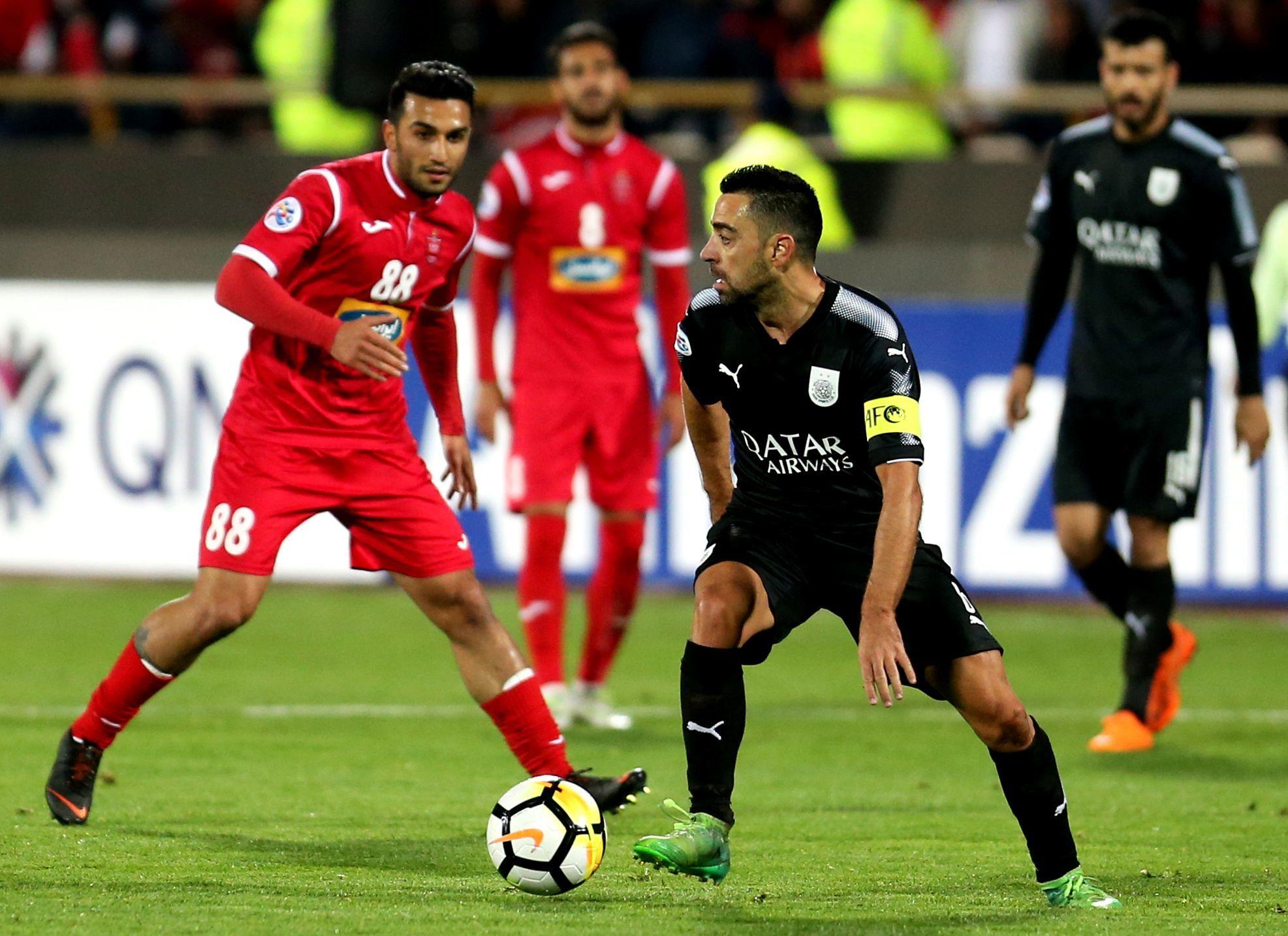 Xavi Hernández jugando con el Al-Sadd en la AFC Champions League