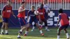Foto de archivo de un entrenamiento del Atlético de Madrid.