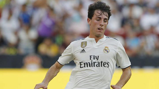 Odriozola during the ICC game between Real Madrid and Juventus