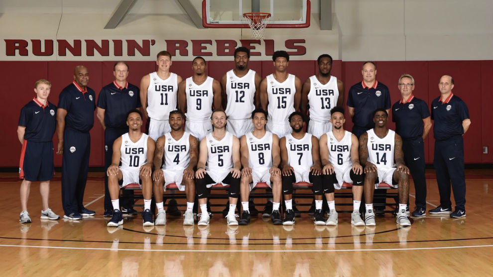 La selección de Estados Unidos para las Ventanas FIBA.