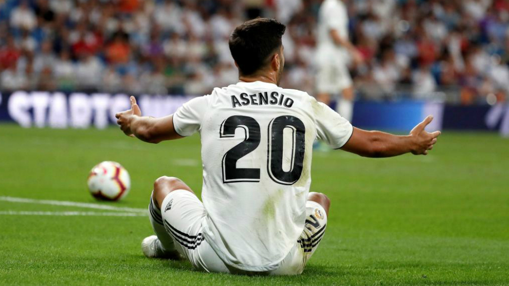 Marco Asensio during the first game of LaLiga against Getafe
