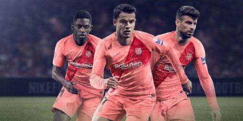Tercera equipación del Barcelona para la 18/19.