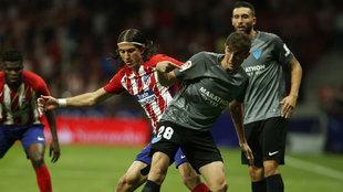 Mula en una imagen de archivo ante el Atlético de Madrid.