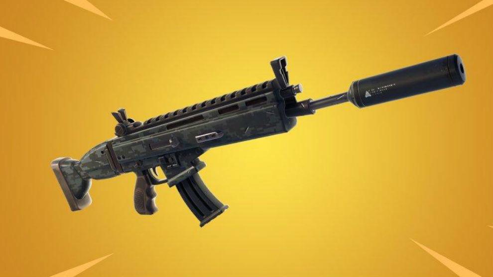 Fusil de asalto con silenciador, nueva arma de 'Fortnite'