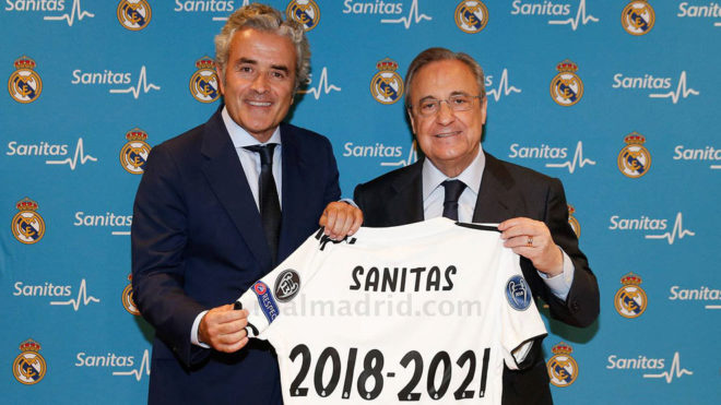 Real Madrid renew contract with private health firm Sanitas