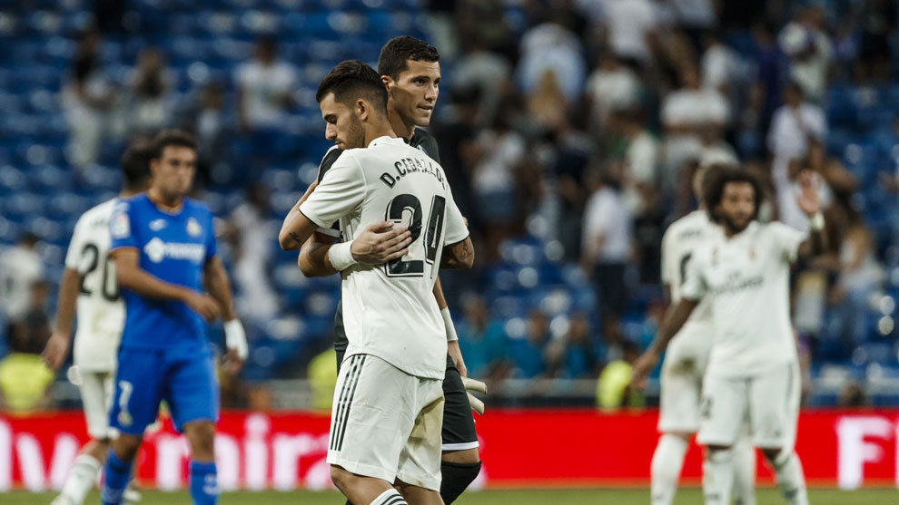 David Soria tras el partido frente al Real Madrid.