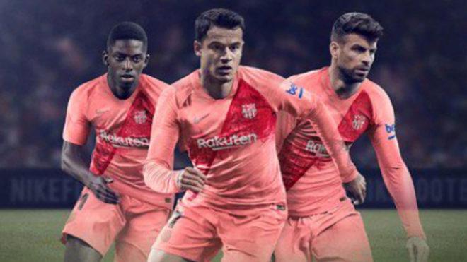4b3a2b4387 Liga Española  El Barcelona vestirá de rosa pálido en su tercera ...