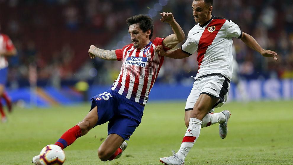 Savic durante el partido frente al Rayo Vallecano