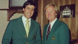 Seve Ballesteros y Jack Nicklaus, en el Augusta National.
