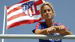 Ángela Sosa posa en la Ciudad Deportiva Wanda.