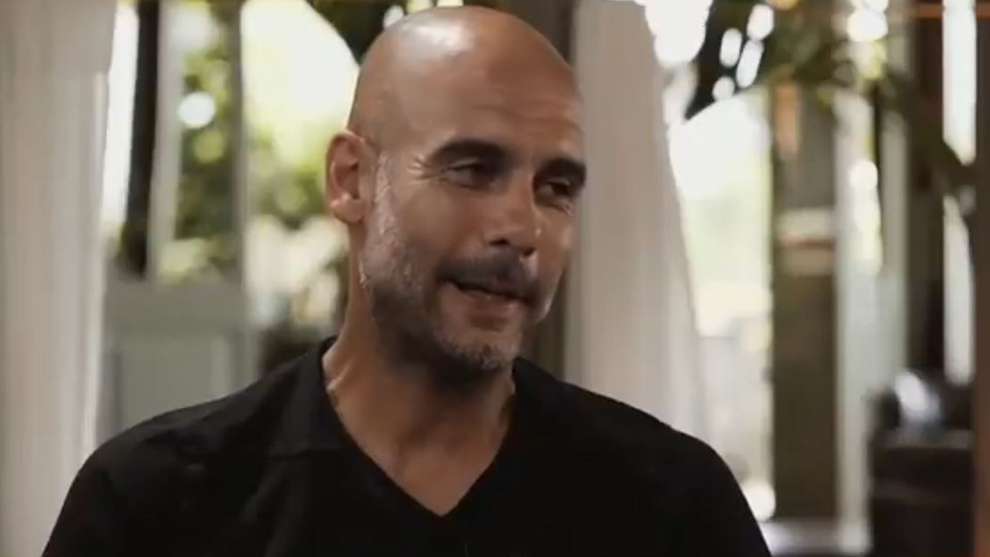 Guardiola admitted that he'd like to finish his coaching career back...