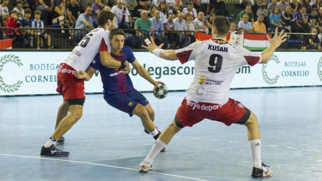 Yanis Lenne, en un partido contra el Logroño de la pasada temporada