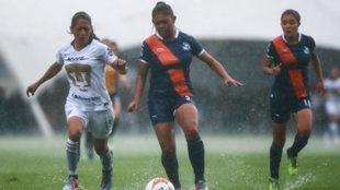 La lluvia no permitió que se disputará el partido en La Cantera.