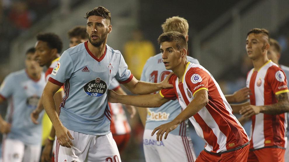 Imagen del partido entre Celta y Girona de la pasada temporada.