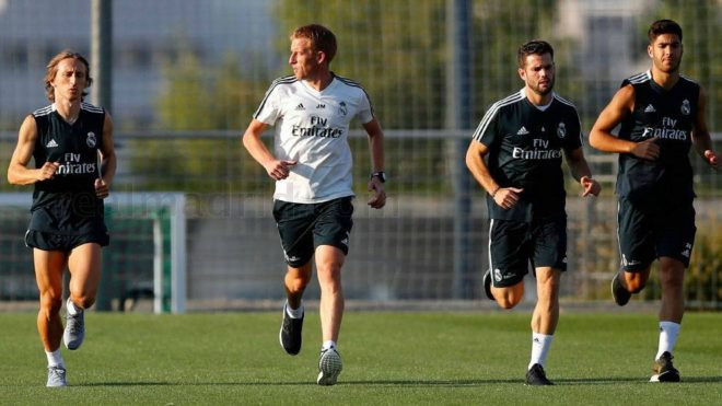 Real Madrid completed the third training session of the week,