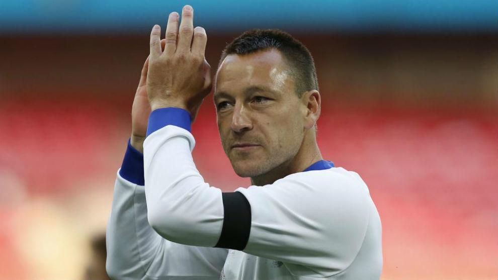 Terry, durante un partido de Copa contra el Tottenham.