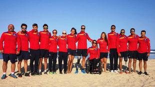 El equipo paralímpico español de triatlón, en Goald Coast...