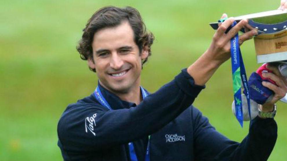 Pedro Oriol, con la medalla de oro conseguida en los Europeos de golf...