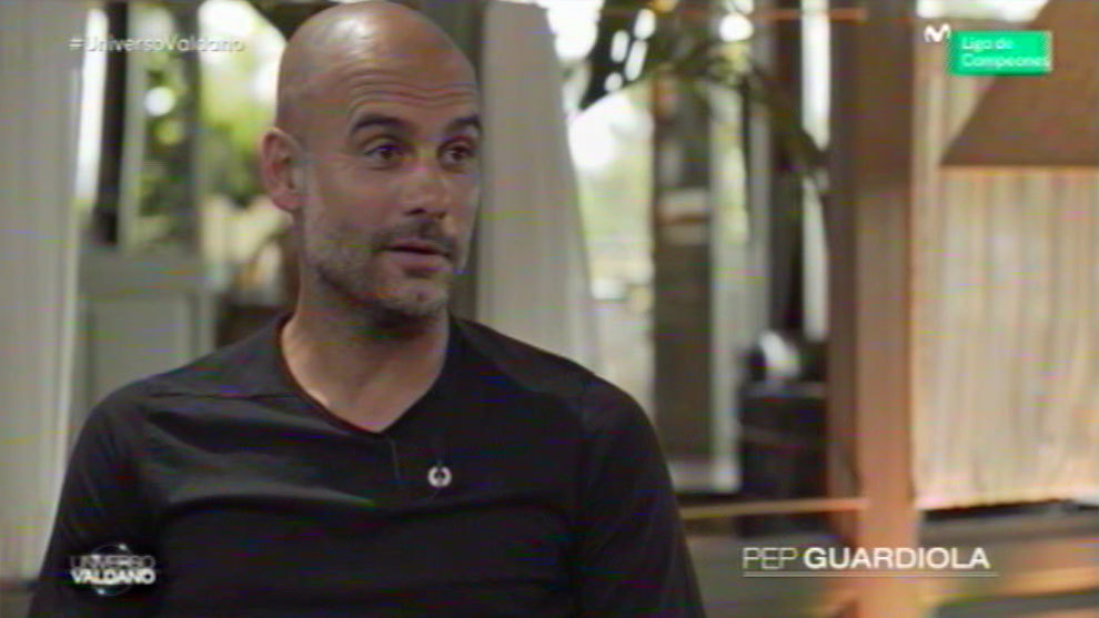 Pep Guardiola spoke to Jorge Valdano.