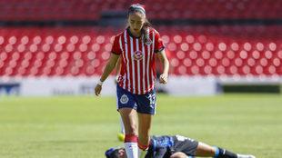 Daniela Pulida recibió una amonestación por la patada.