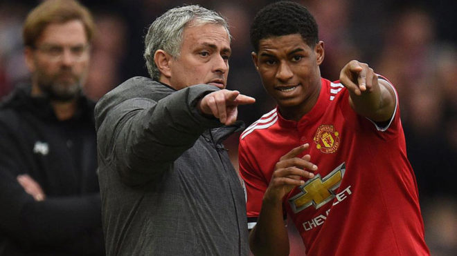Mourinho and Rashford.