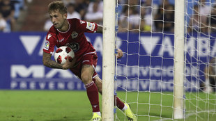 Fede Cartabia tras su gol al Zaragoza en Copa.