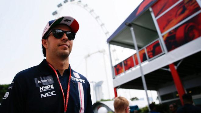 Checo partira septimo en el Gran Premio de Singapur