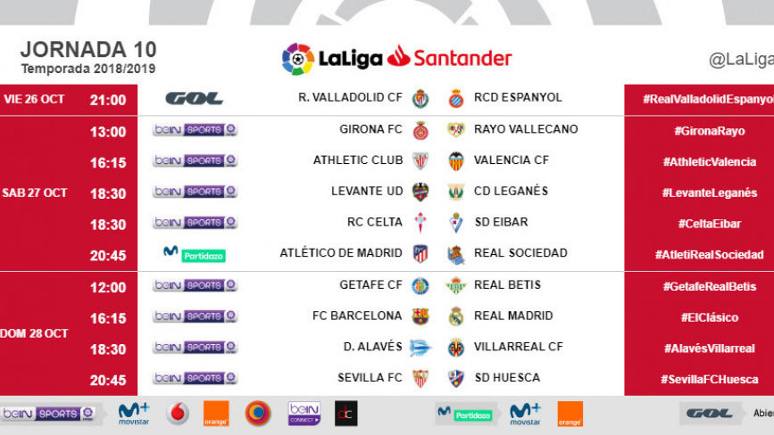 Kick-off time officially announced for first Clasico of the 2018/19...