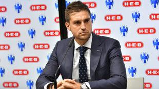 Alonso durante una conferencia de prensa