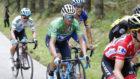 Alejandro Valverde durante la etapa.