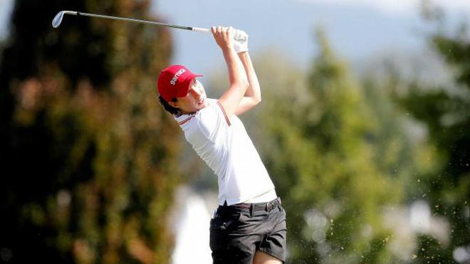 Carlota Ciganda juega un hierro en la segunda jornada del Campeonato...