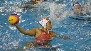 Lorena Miranda, en un partido con España durante el Mundial 2013.