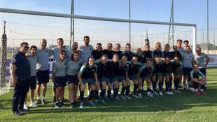 Las jugadoras del Barcelona femenino tras entrenar en Kazajistàn