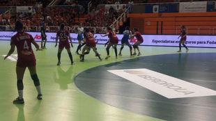 Un momento del partido entre el Alcobendas y el Málaga Costa
