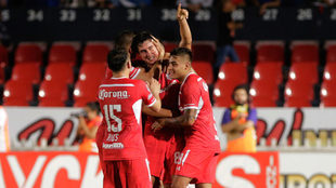 Toluca celebra su triunfo sobre Veracruz en el 'Pirata'...